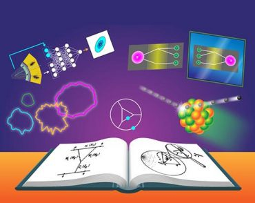 Illustration of physics book