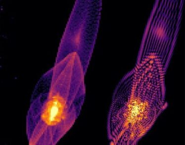 A simulation of early galaxy formation under three dark matter scenarios.