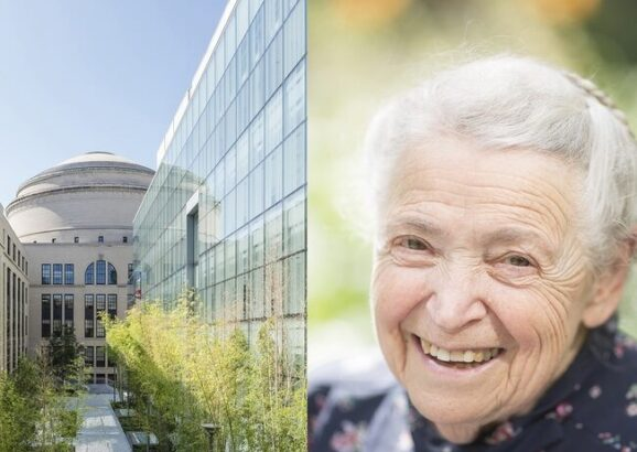 Section of the MIT.nano courtyard has been named the Improbability Walk, in honor of Mildred Dresselhaus.