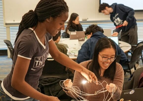 MIT students explore the practical application of electromagnetic concepts through 8.02 (Electricity and Magnetism) class experiments.