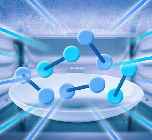 Illustration of molecules super-cooling in new