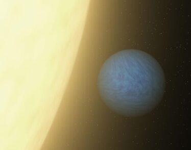 Hydrogen planet orbiting star