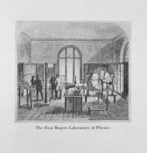 Etching of the First Rogers Laboratory in Physics.