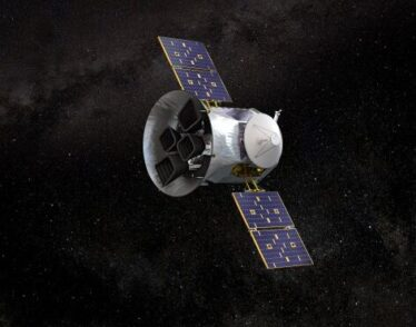 Illustration of NASA's Transiting Exoplanet Survey Satellite.