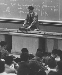 Image of physics classroom in 50s