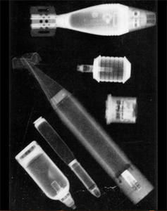 Xray of captured munitions from WWII