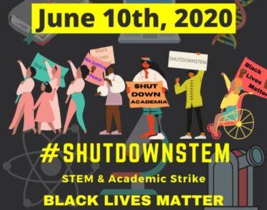 #ShutDownSTEM 2020 for Black Lives Matter Graphic