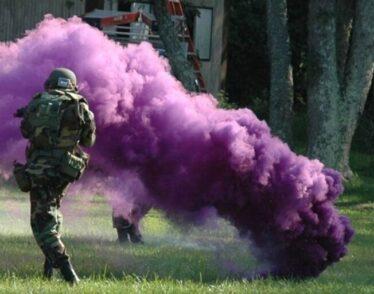 Cloaking grenade used, hiding troop operations.