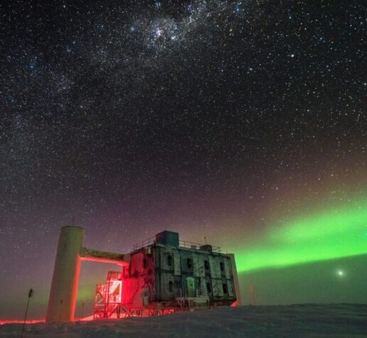 The IceCube Lab at the South Pole.