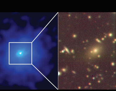 Image of new galaxy cluster harboring black hole.