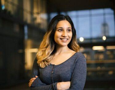 Physics senior Radha Mastandrea