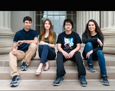 Photo of the four MIT 2018 Department of Energy Computational Science Graduate Fellows