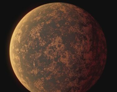 Artist's rendering of the surface of LHS 3844b, a planet that has been found to have no atmosphere.