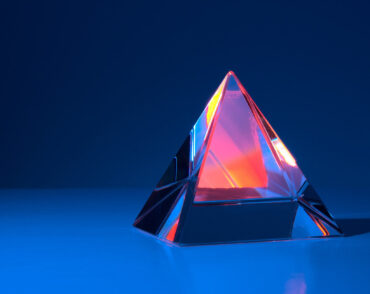 Photo of crystal pyramid