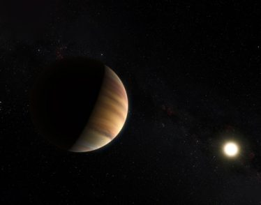 Image of exoplanet and its sun.