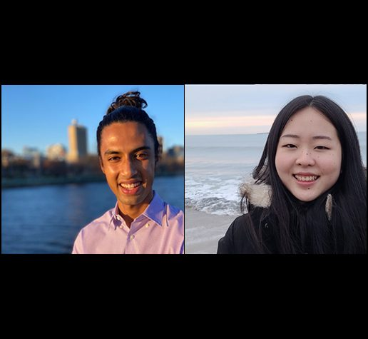 L-R: Karna Morey and Lily Zhang