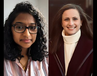 (L to R) Abby Stein and Anjali Nambrath