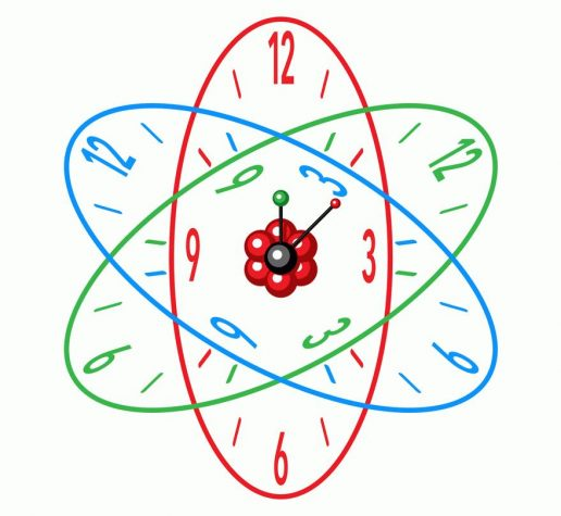 Illustration of atomic clock.