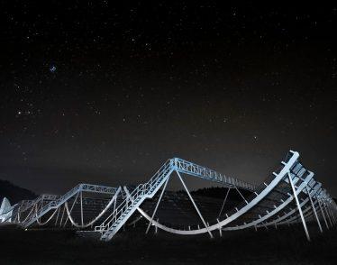 CHIME, the large radio telescope.