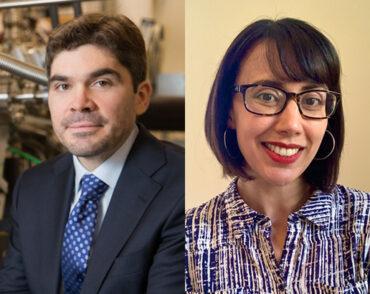 Headshots of Joe Checkelsky and Kerstin Perez