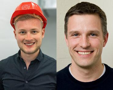 Headshots of Postdoctoral researcher Dr. Jonas Karthein (left) and Professor Markus Klute (right)