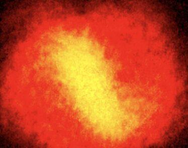 glowing cloud of atoms